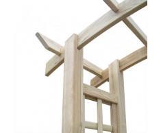 Arche de jardin en bois avec treillis 150 x 50 x 220 cm - Accessoire bassin d'agrément