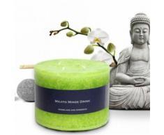 Bien-Être Bougie Parfumée - Menthe Mojito, Vert-Mai (10x13 cm) - Bougeoir, bougie et senteur