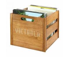 victrola boîte de rangement pour vinyles jusqu'à 70 albums bois naturelvictrola boîte de rangement pour vinyles jusqu'à 70 albums bois naturel - accessoire audio
