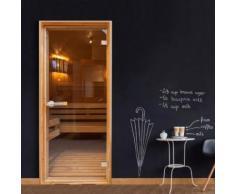 Artgeist - Papier-peint pour porte - Sauna 100x210 - Décoration des murs