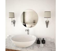 Miroir Mural 40 cm pour Chambre à Coucher, Salon ou Dressing Rond Verre - Objet à poser