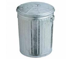 poubelle d'extérieur acier galvanise 54l ø 39 x 46