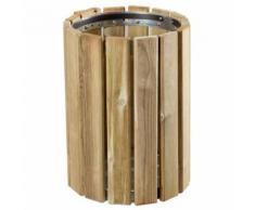 poubelle d'extérieur en bois 20 l eden