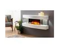 gdegdesign Cheminée électrique blanche décorative lumineuse LED - Lounge