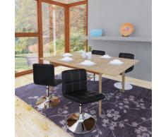 vidaXL Chaise de salle à manger 4 pcs Réglable Noir