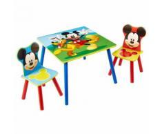 Disney Table et chaises 3 pcs Mickey Mouse Bois WORL119014