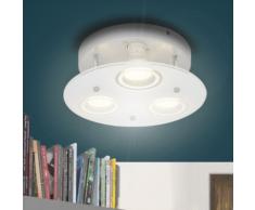 vidaXL Plafonnier Rond LED avec 3 ampoules