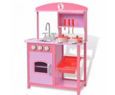vidaXL Cuisine jouet 60 x 27 83 cm Bois Rose