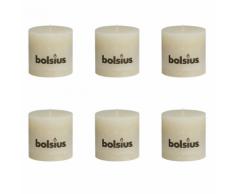 Bolsius Lot de 6 bougies 100 x mm ivoire