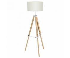 EGLO Lampe de plancher beige 150 cm Lantada