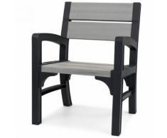 Keter Chaise de jardin Montero Gris 234453