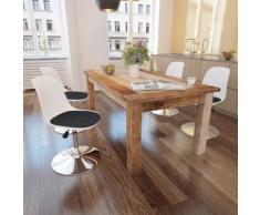 vidaXL Chaise de salle à manger 4 pcs Réglable Blanc et noir