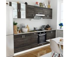 vidaXL Cuisine complète avec Four intégré 6 fonctions Aspect wenge