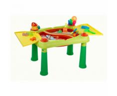 "Keter Table de jeu ""Sand & Water"" Rouge et jaune"
