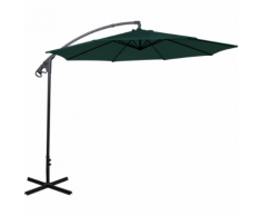 vidaXL parapluie en porte-à-faux banane vert 3 m