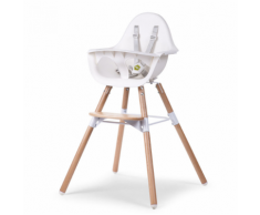 CHILDWOOD Chaise haute bébé 2-en-1 Evolu 2 Blanc CHEVOCHNW