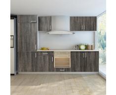vidaXL Set de 7 meubles cuisine pour réfrégirateur (non fourni) Wengé