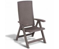 Allibert Chaise de jardin inclinable Montreal Cappuccino 223476