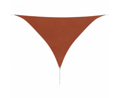 vidaXL Parasol en tissu Oxford triangulaire 5x5x5 m Ocre marron