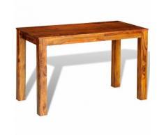 vidaXL Table de salle à manger Bois massif sesham 120 x 60 76 cm