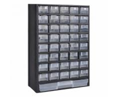 vidaXL Armoire à outils avec 41 tiroirs Plastique