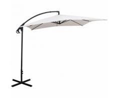 vidaXL parapluie en porte-à-faux sable blanc 2,5x2,5 m
