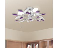 vidaXL Plafonnier et bras en forme de feuille Acrylique 3 ampoules E14