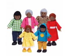 Hape Poupées famille heureuse afro-américaine E3501