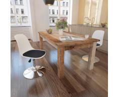 vidaXL Chaise de salle à manger 2 pcs Réglable Blanc et noir