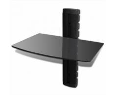 vidaXL Étagère murale noire 1 tablette pour DVD