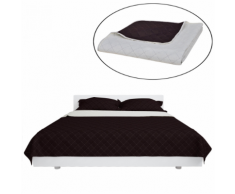 vidaXL Couvre-lits à double côtés Beige/Marron 220 x 240 cm