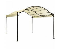 Not specified Abri voiture tonnelle barnum pavillon de jardin métal beige