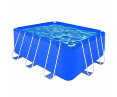 vidaXL Piscine rectangulaire avec cadre en acier 400 x 207 122 cm