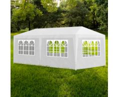 vidaXL Tonnelle de jardin Tente réception Chapiteau Blanc 3x6m