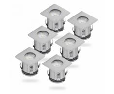 SMARTWARES Projecteur LED de sol 6 pcs 0,36 W Chrome 5000.476