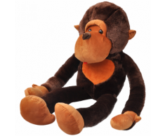 vidaXL Singe-jouet en peluche 150 cm Marron