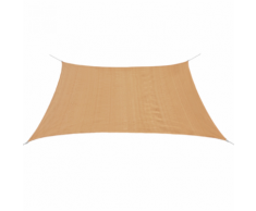 vidaXL Parasol en PEHD carré 3,6 x m Beige