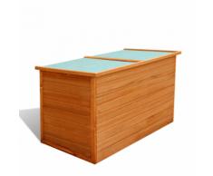 vidaXL Coffre de jardin étanche en bois