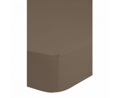 Emotion Drap-housse sans repassage 90 x 200 cm Taupe 0220.86.42