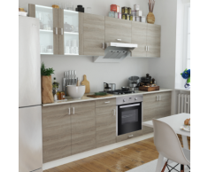 vidaXL Cuisine complète avec Four intégré 8 fonctions Aspect chêne