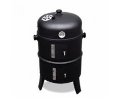 vidaXL Barbecue BBQ rond américain Smoker fumoir bois ou charbon