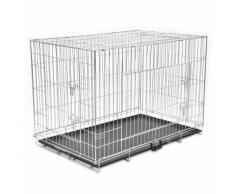 vidaXL Cage en métal pliable pour chien XXL