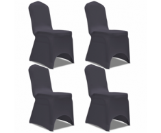 vidaXL Housse de chaise extensible 4 pcs Anthracite