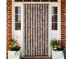 vidaXL Rideau de porte chenille brun et beige 90 x 220 cm