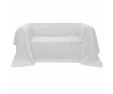 vidaXL Housse Micro-suède de canapé Crème 140 x 210 cm