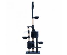 vidaXL Arbre à chat XL 230-260 cm en peluche bleue foncée