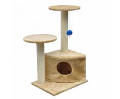 vidaXL Arbre à chat de 70cm en peluche beige