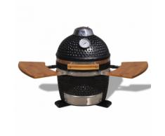 vidaXL Kamado Barbecue au charbon de bois en céramique 44 cm