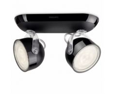 "Philips myLiving Plafonnier LED ""Dyna"" 2 x 3 W Noir 532323016"