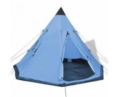 vidaXL Tente pour 4 personnes Bleu